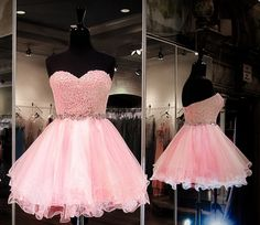 New Arrival Tulle Pink Homecoming Dress,Sweetheart Short Homecoming