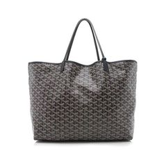Rental Goyard Goyardine Canvas St. Louis GM Tote (1 825 SEK) ❤ liked on Polyvore featuring bags, handbags, tote bags, black, tote hand bags, canvas purse, goyard handbags, canvas handbags and canvas tote