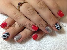 Gel Nails, Colour Nails, Glitter Nails, Lightning Stamping Nail art