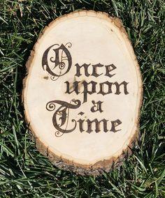 Once Upon a Time Wood Slice Art Nursery Wall Art Photo