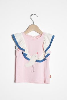 Adore this lovely birdy shirt for lucky little girls. Creative and beautiful. #estella #girls #fashion