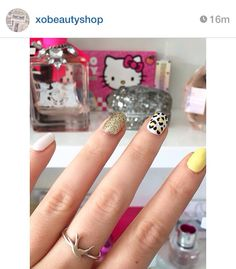 Love these nails!  Silver Rings, Nails, Instagram Posts, Beauty, Jewelry, Beleza, Jewellery Making, Ongles, Finger Nails