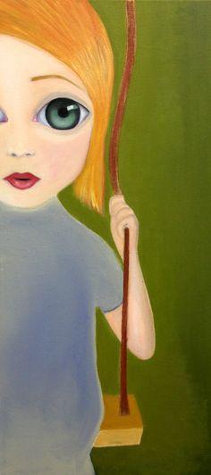 Maria // Öl auf Leinwand 30x60