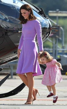 Lively Charlotte has shown off her confident side on overseas visits, including the royal ...