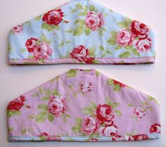 Shabby Chic Coat Hanger Covers  Padded coat by SewnWithPassion