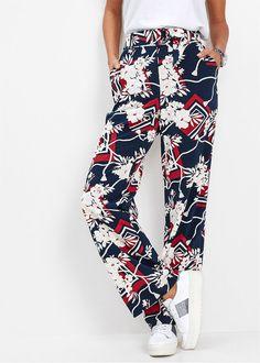 Pantaloni Marlene bleumarin imprimat Un • 139.9 lei • bonprix Lei, Pajama Pants, Pajamas, Bikini, Costume, Style, Fashion, Pjs, Bikini Swimsuit