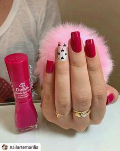 45 types of makeup nails art nailart 43 Fancy Nails, Swag Nails, Pink Nails, Pretty Nails, Pretty Nail Designs, Nail Art Designs, Nails Design, Valentine Nail Art, Nagel Gel