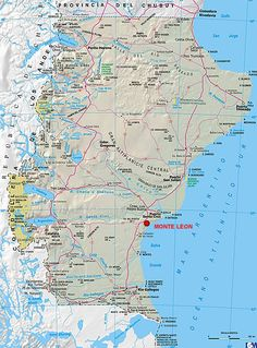 El Parque Nacional Monte León es un área protegida representativa de la biodiversidad costera patagónica. ~ Galería Fotográfica de Argentina