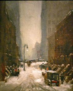 "Robert Henri, ""Snow in New York,"" National Gallery of Art"