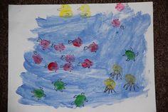 ocean theme thumbprint