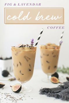Fig & Lavender Cold Brew Coffee Recipe #fig #lavender #coldbrew #coffee #recipe #easy
