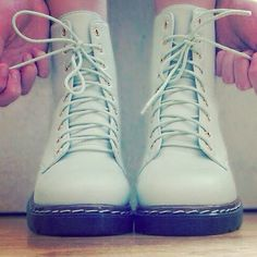 #shoes #shoe #boots #combatboots #mintgreen #green #mint #color #colors #kawaii #minty #blue #cute #love #amazing #inlove #seafoam #palate #want #ineedthis #musthave #addiction #neon #bright