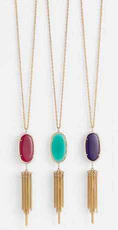 Add a pop of color with these gorgeous pendant necklaces http://rstyle.me/n/tvqg2n2bn