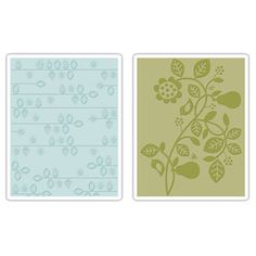 Sizzix Textured Impressions Embossing Folders 2PK - Pear & Vines Set $10.99
