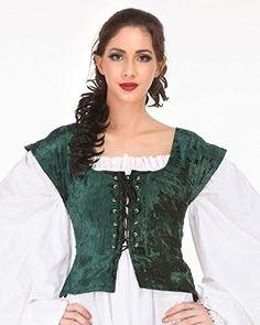 Pirate Wench Peasant Renaissance Medieval Costume Corset Bodice (Large, Green) ThePirateDressing http://www.amazon.com/dp/B001NWFZEK/ref=cm_sw_r_pi_dp_Hav1vb1A4C96J