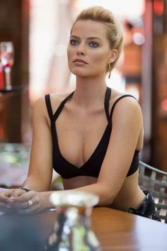 "Hottiesbay: Margot Robbie – ""Focus"" promotional set stills- like this swimsuit a lot"