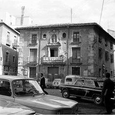Plaza de los Apostoles Murcia 1950 Edificio del diario La verdad