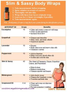 doterra essential oil slim and sassy body wrap Young Living Oils, Young Living Essential Oils, Detox Wrap, Doterra Slim And Sassy, Diy Body Wrap, Elixir Floral, Lose Inches, Body Wraps, Essential Oil Uses