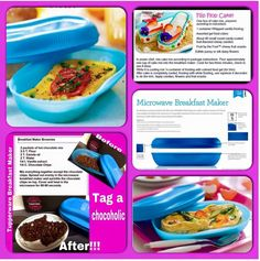 Many ways to use the Tupperware Breakfast Maker… Tupperware Breakfast Maker Recipe, Microwave Breakfast, Tupperware Recipes, Microwave Recipes, Tupperware Bowls, Flip Flop Cakes, Tupperware Pressure Cooker, Tupperware Consultant, Snacks