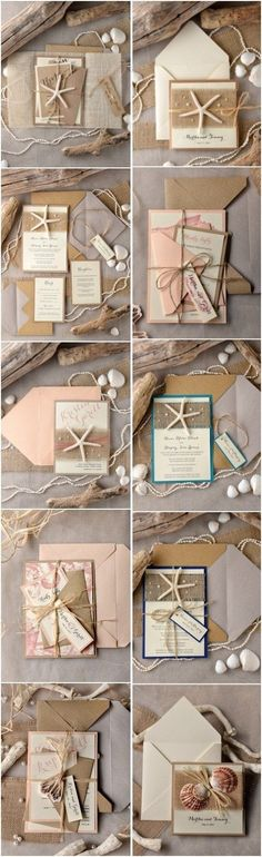 Rustic beach wedding invitations, but I definitely prefer this theme for a baby shower instead of a wedding Wedding Invitation Trends, Beach Theme Wedding Invitations, Handmade Wedding Invitations, Rustic Invitations, Bridal Shower Invitations, Wedding Themes, Wedding Cards, Diy Wedding, Rustic Wedding