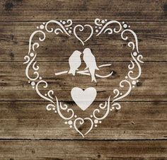 stencil shabby chic vintage heart french furniture 125 micron mylar a5 65 stencil. Black Bedroom Furniture Sets. Home Design Ideas