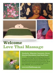 Let we take care of your stress. Vacation List, Thai Massage, State Of Florida, Neck Pain, Stress Management, Massage Therapy, Insomnia, Ancient Art, Take Care Of Yourself