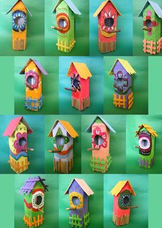 a classic in crafts........bird houses. www.facebook.com/pages/Mini-Taller-dArt/129736920419843