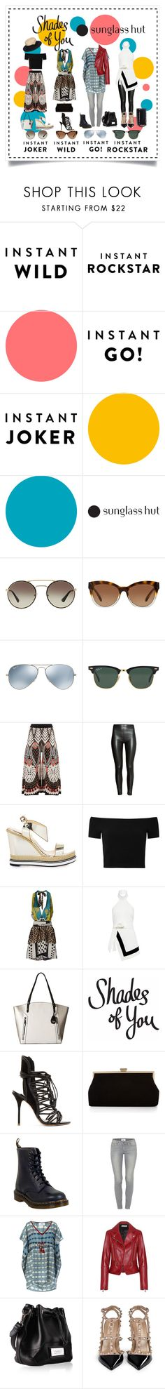 """Shades of You: Sunglass Hut Contest Entry"" by aquarella ❤ liked on Polyvore featuring Prada, Michael Kors, Ray-Ban, Temperley London, H&M, Nicholas Kirkwood, Alice + Olivia, SHI 4, Finders Keepers and Jessica Simpson"