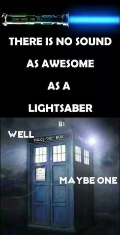 I love the sound of the TARDIS and the sonic screwdriver.