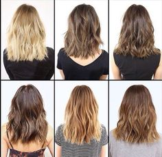 Love this! Shiny, healthy hair with a blunt edge and shattered layers! Perfect for spring/summer!