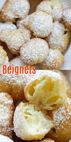 Donut Recipes, Pastry Recipes, Cooking Recipes, Homemade Pastries, Homemade Donuts, Homemade Breads, Dessert Simple, Beignets Recipe Easy, New Orleans Beignets Recipe