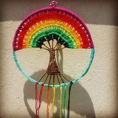 Árbol Filet Crochet, Crochet Motif, Crochet Designs, Crochet Doilies, Crochet Flowers, Crochet Patterns, Crochet Stitches, Crochet Wall Art, Crochet Tree