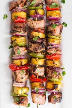 Teriyaki Pork Kabobs Easy Teriyaki Pork Kabobs made with extra lean and tender Hormel's premarinated pork tenderloin.Easy Teriyaki Pork Kabobs made with extra lean and tender Hormel's premarinated pork tenderloin. Marinade Porc, Pork Marinade, Shish Kebab, Grilling Recipes, Pork Recipes, Cooking Recipes, Healthy Recipes, Pork Skewers, Chicken Kabobs