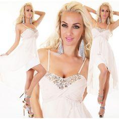 22412S Φόρεμα Ασύμμετρο Σιφόν Μπεζ