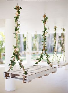 Swing decor: http://www.stylemepretty.com/2014/10/16/romantic-garden-wedding-by-the-water/ | Photography: Ozzy Garcia - http://www.ozzygarcia.com/