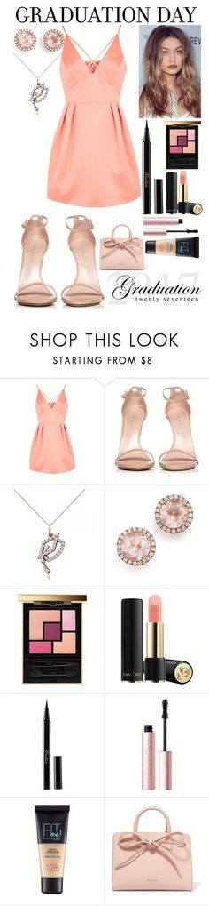 """graduation"" by doggyrules on Polyvore featuring Topshop, Stuart Weitzman, Allurez, Dana Rebecca Designs, Yves Saint Laurent, Guerlain, Too Faced Cosmetics, Maybelline and Mansur Gavriel"