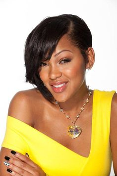 Sexy and hot pictures of the new girl from Californication Meagan Good. Meghan Good, Meagan Good Short Hair, Short Hair Up, Cool Short Hairstyles, Up Hairstyles, Hairstyle Ideas, Beauty Skin, Hair Beauty, Short Styles