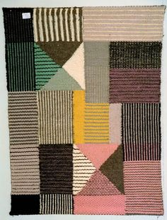 """Bauhaus in Germany means """"house of construction"""" but it could be a movement that happened in an Art School of Germany. Bauhaus was famous of their new approached in design and fine arts… Art Textile, Textile Patterns, Knitting Patterns, Print Patterns, Floral Patterns, Textile Artists, Weaving Textiles, Tapestry Weaving, Bauhaus Textiles"""