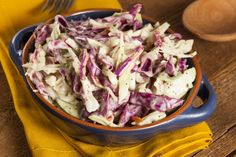 This no-sugar coleslaw recipe uses apple cider vinegar, lemon juice and plain yogurt to create a super-healthy, refreshing sauce that you'll just love.