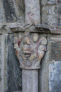 366/341 Capital - Prieuré de Serrabone Carcassonne, Romanesque, South Of France, Egypt, Arch, Europe, Painting, Romanesque Art, Bow