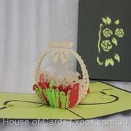 Flower Basket Pop Up Greeting Card  http://www.xoox.com.au/