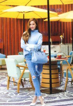 Jessica Jung: The Hallyuwood Rising Idol Fashionista Snsd Fashion, Fashion Line, Daily Fashion, Korean Fashion, Fashion Outfits, Jessica Jung Fashion, Ex Girl, Girl's Generation, Krystal Jung