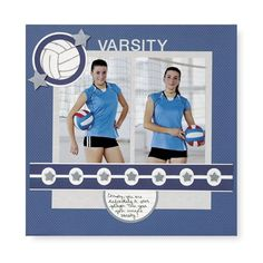 Scrapbook Page Ideas volleyball   Found on projectcenter.creativememories.com