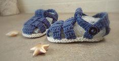 Sandaletti bimbo a uncinetto Crochet baby sandals