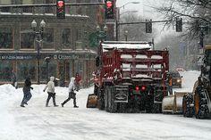 snow storm in Harvard Square Harvard Square, Cambridge Ma, Massachusetts, New England, Snow, Storms, City, Winter, Boston
