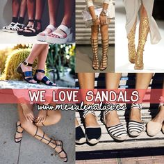 WE LOVE SANDALS in www.mesalenalas.es