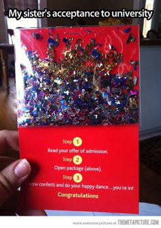 The best acceptance letter ever…
