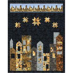 Timeless Treasures Fabrics Gilded City City Living Quilt Kit