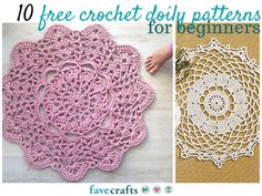 Free crochet doily patterns! Yes, please. These free crochet patterns are so so pretty.