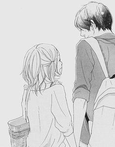 Ren and Ninako! c(*~*c) love this manga so much! Manga Couple, Anime Couples Manga, Cute Anime Couples, Manga Anime, Anime Art, Romantic Anime Couples, Couple Cartoon, Couple Art, Photo Manga
